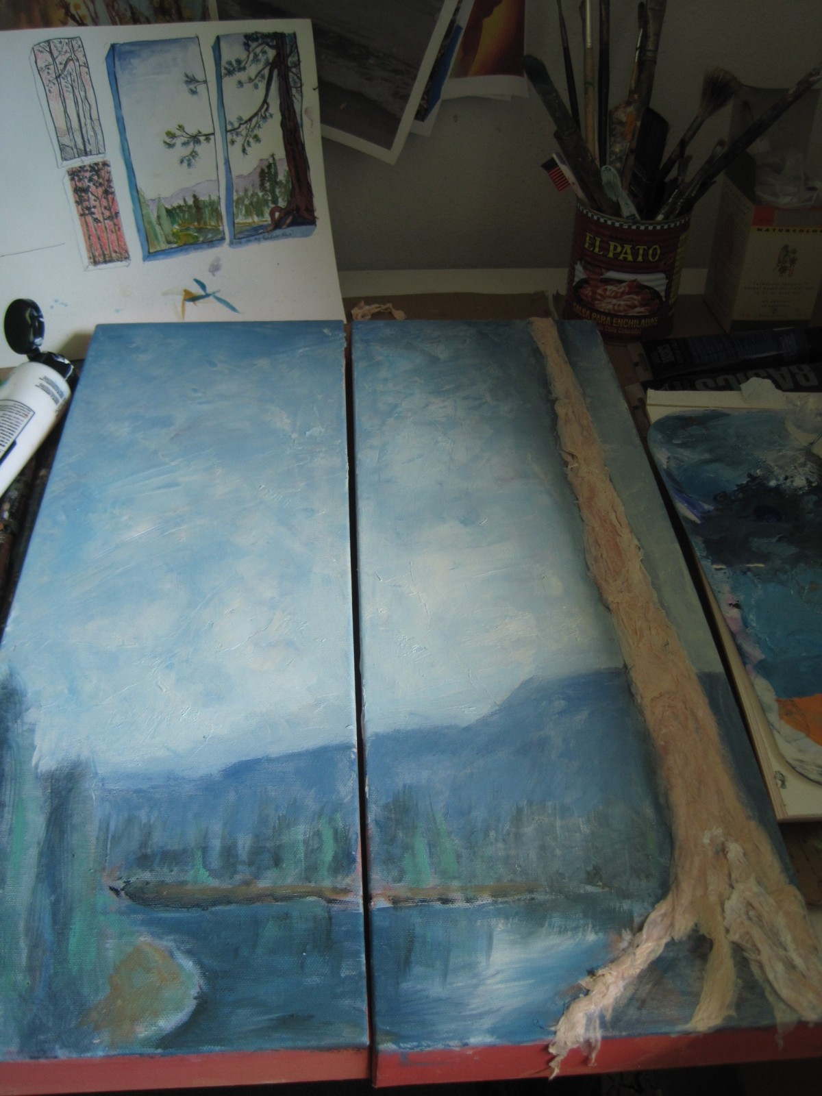 Sun River Pine Painting