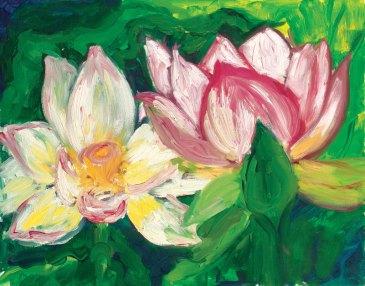 Lotus Freedom, Oil 16x20  © 2013 Rachel Urista