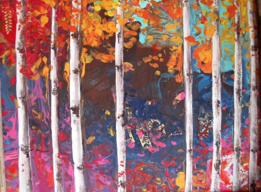 Acrylics and paper © Rachel Urista