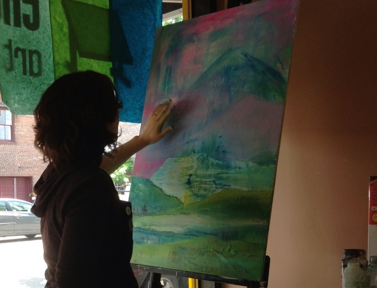 Live Painting – in theWindow!