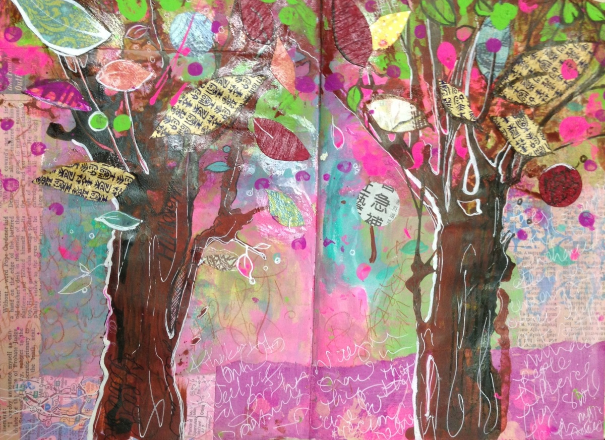 Growing a Tree – Art Journaling Class