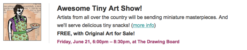 Awesome Tiny Art Show 2013