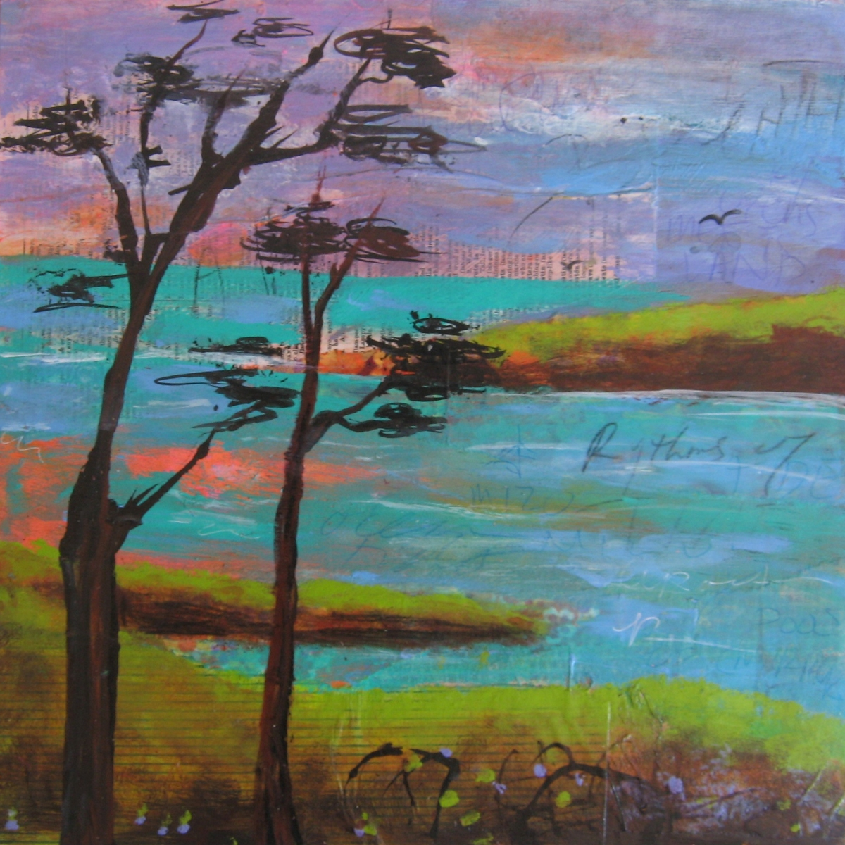 Mixed Media Coastal Tides Series Continues
