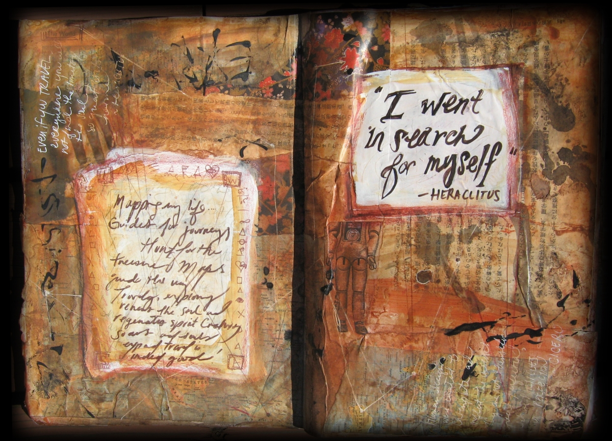 Map Obsession • Art Journal Demo