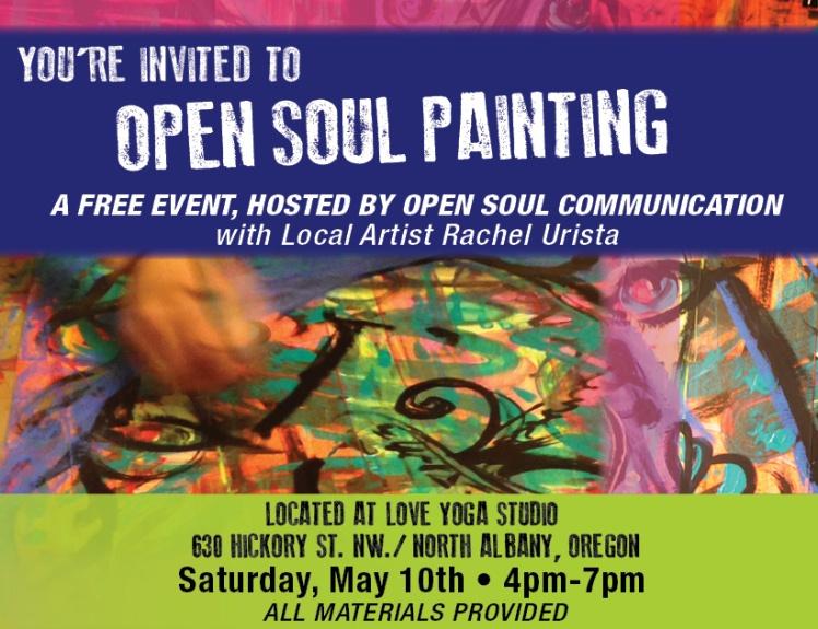 Open Soul Paint Party Invite