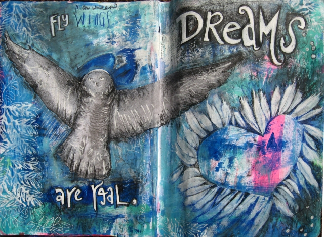 Copyright 2014_RachelUrista_Mixed Media Painting_DreamsareReal_Art Journal