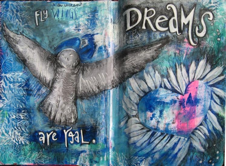 Copyright 2014_RachelUrista_Mixed Media Painting_DreamsareReal_Art Journal