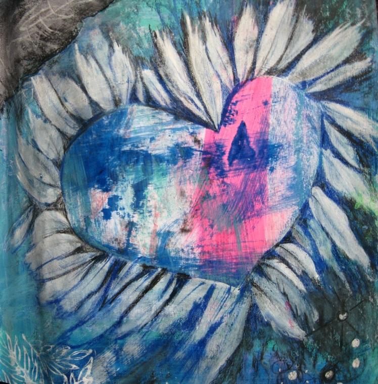 Copyright 2014_RachelUrista_Mixed Media Painting_HeartCatcher