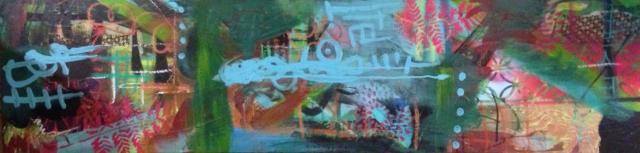 Abstract, mixed media, Art Show, Portland, Porland5, Downtown art, Oregon Artist, Rachel Urista, Dragon boat, Dragon Art, Fantasy Art, Mixed media art, Corvallis Artist